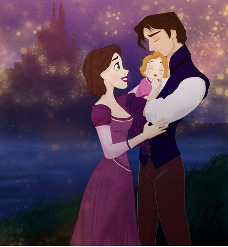Les princesses disney sont mamans d couvrez leurs enfants musique b b s et enfants - Bebe raiponce ...